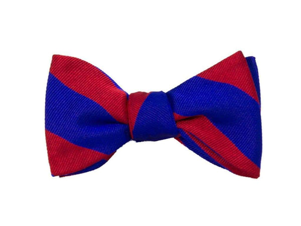 CLUB STRIPED SILK BUTTERFLY BOW TIE