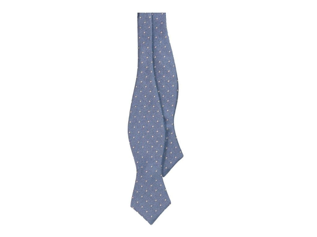 Small Dotted Woven Silk Spencer Bow Tie
