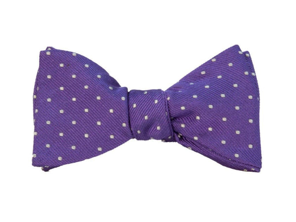 SMALL DOTTED SILK BUTTERFLY BOW TIE