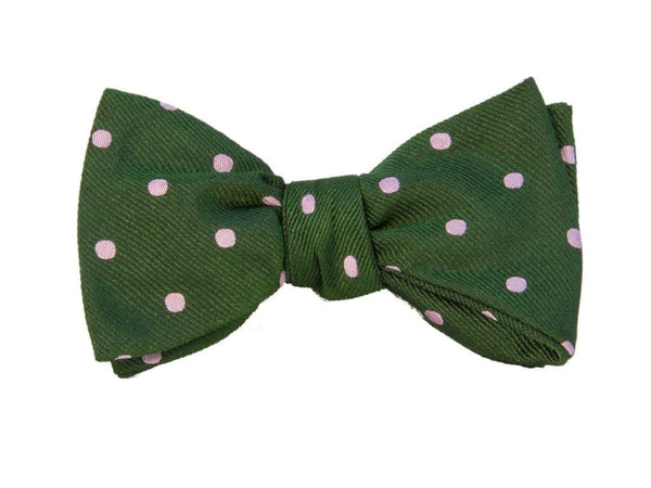 LARGE DOTTED SILK BUTTERFLY BOW TIE