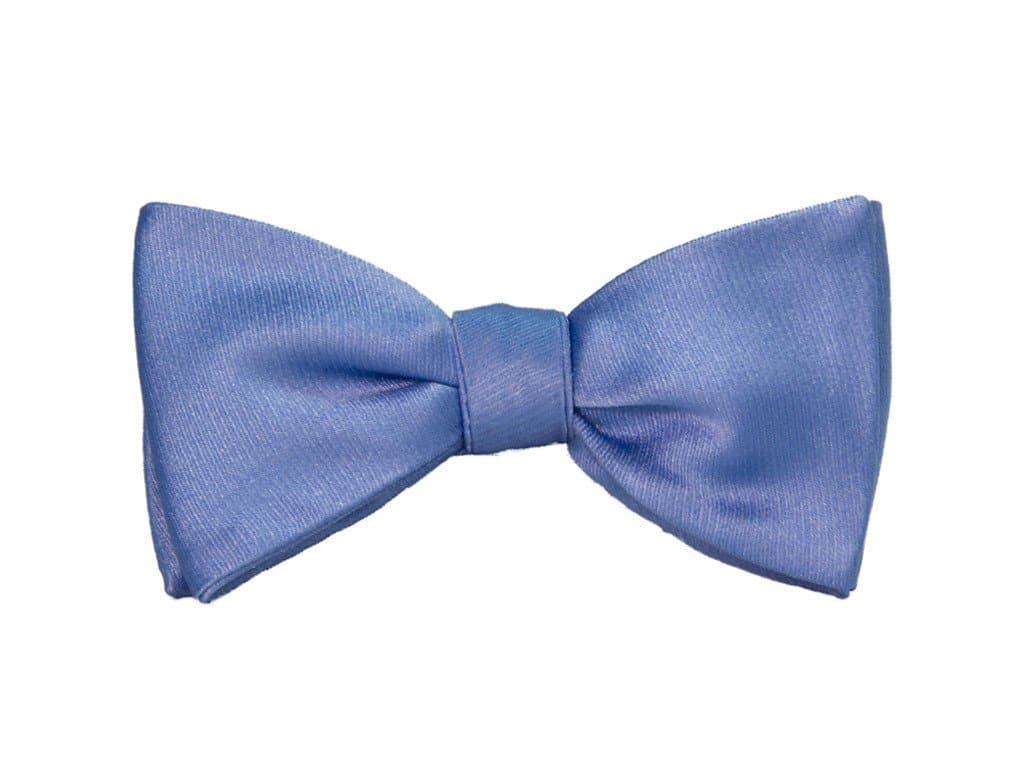 SOLID SATIN SILK BUTTERFLY BOW TIE