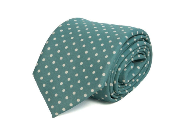 DOTTED PRINTED SILK TIE