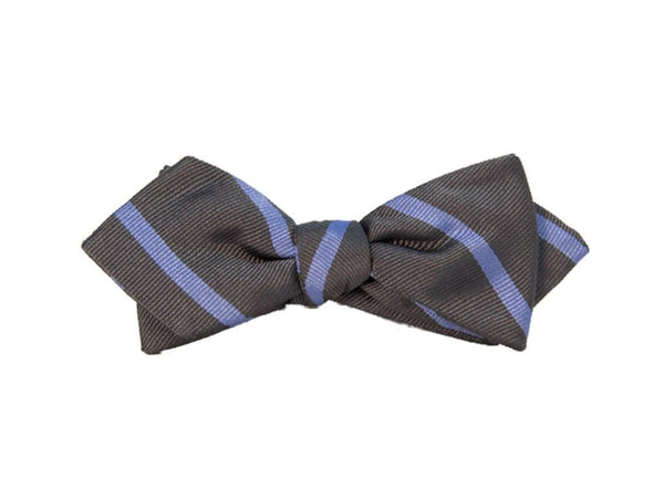 BAR STRIPED SILK SPENCER BOW TIE