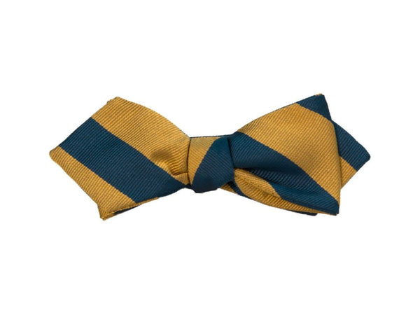 CLUB STRIPED SILK SPENCER BOW TIE