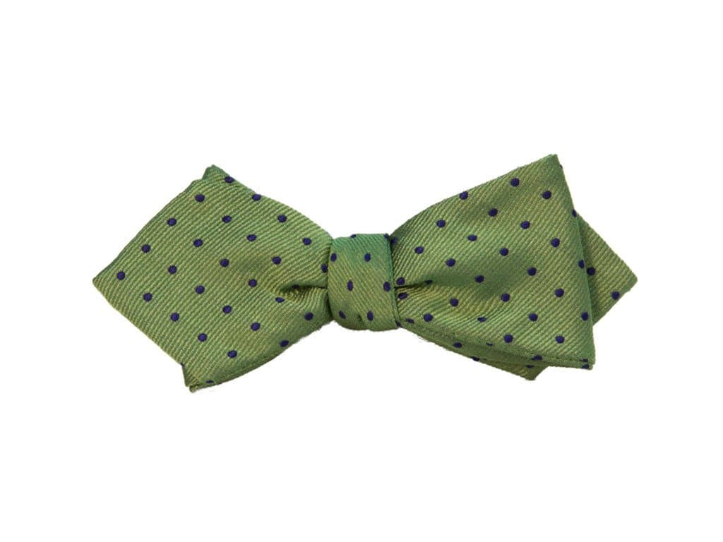 SMALL DOTTED SILK SPENCER BOW TIE
