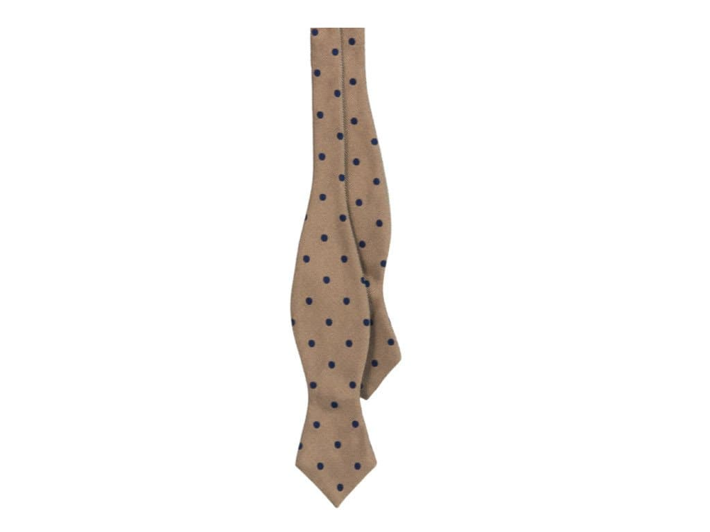 Large Dotted Silk Spencer Bow Tie