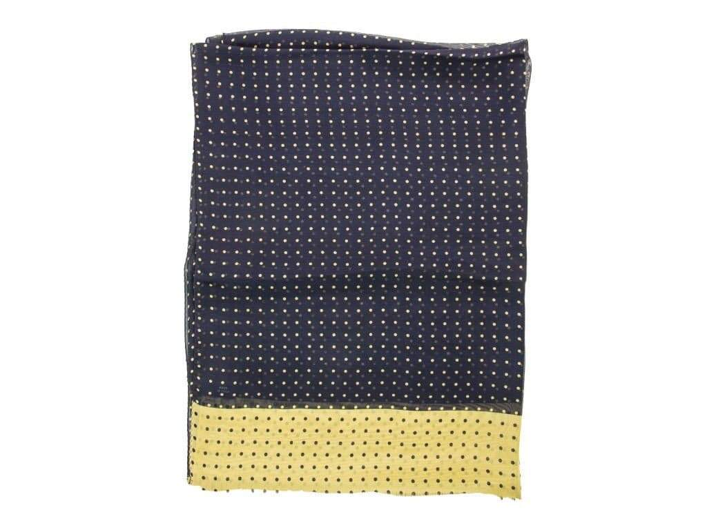 Small Polka Dot Silk Scarf