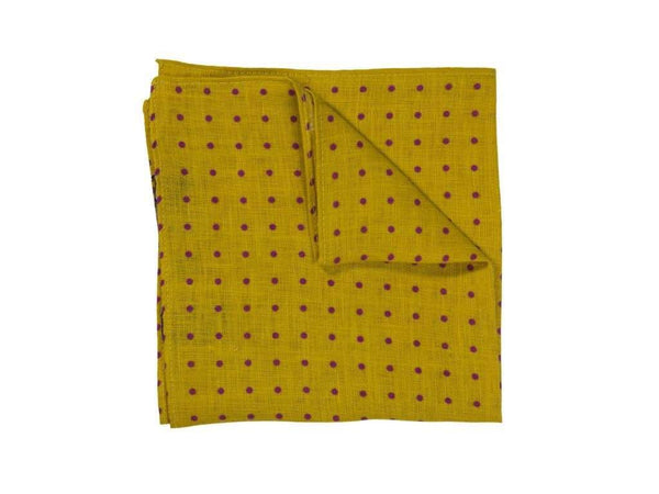 DOTTED LINEN POCKET SQUARE
