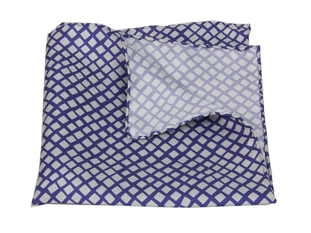 Square Net Printed Silk Pocket Square