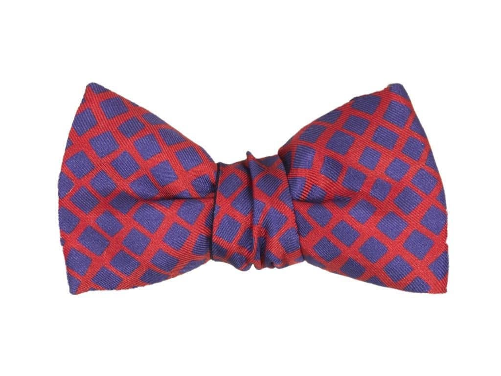 SQUARE NET SILK SMALL WINDSOR BOW TIE