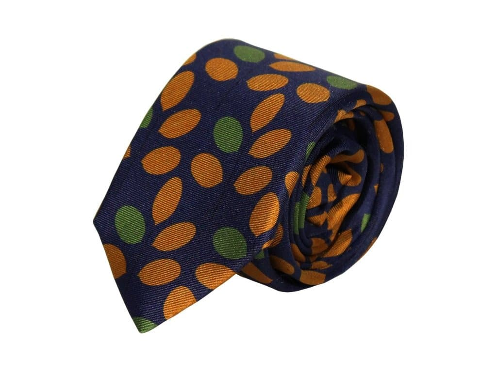 BRANCH PRINTED SILK TIE