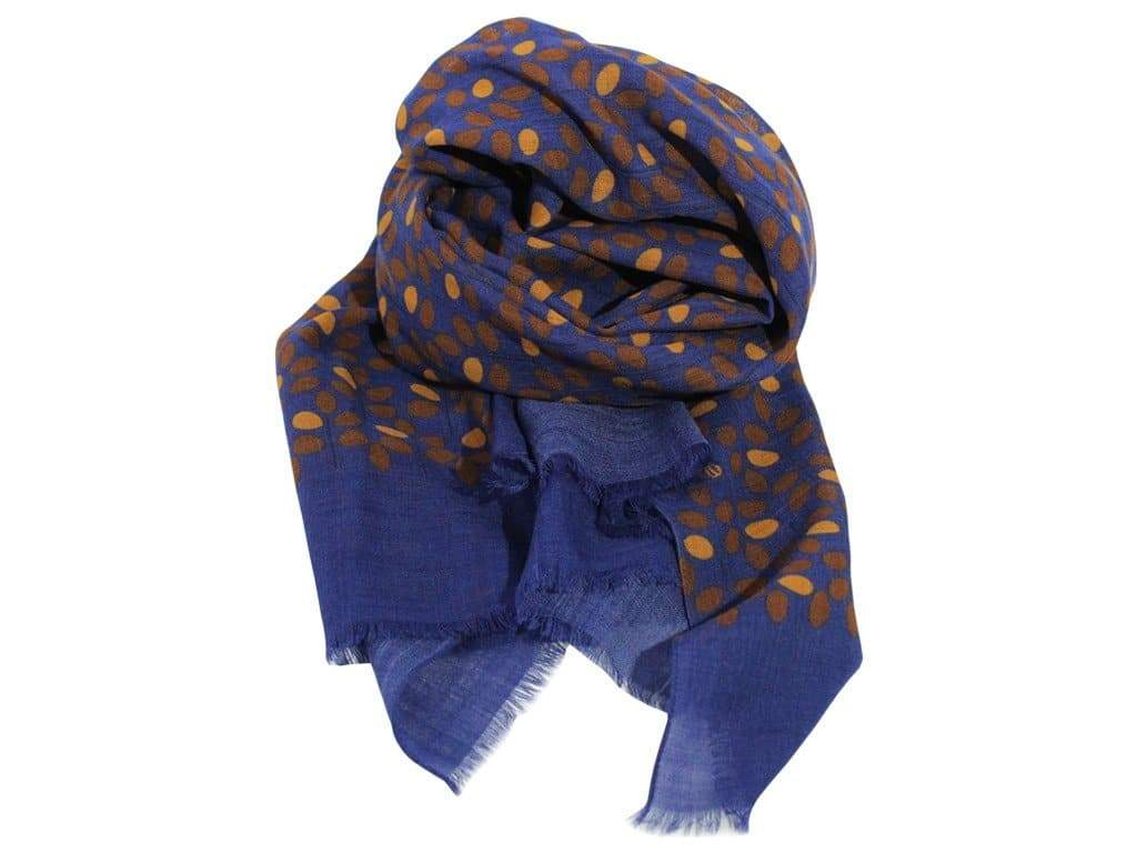BRANCH WOOL AND SILK SCARF