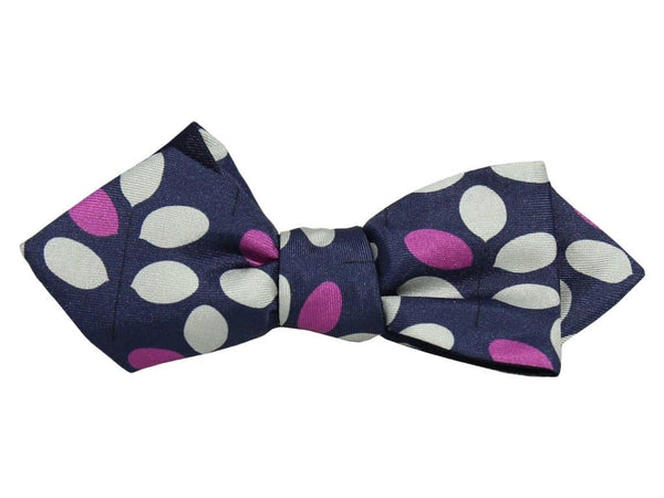 Branch Printed Silk Spencer Bow Tie