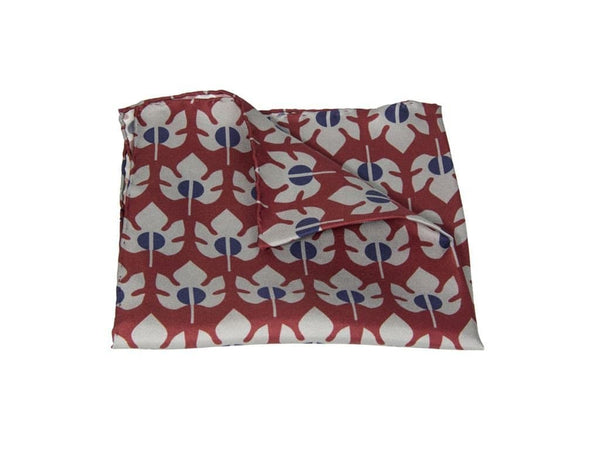 MAPLE PRINTED SILK POCKET SQUARE