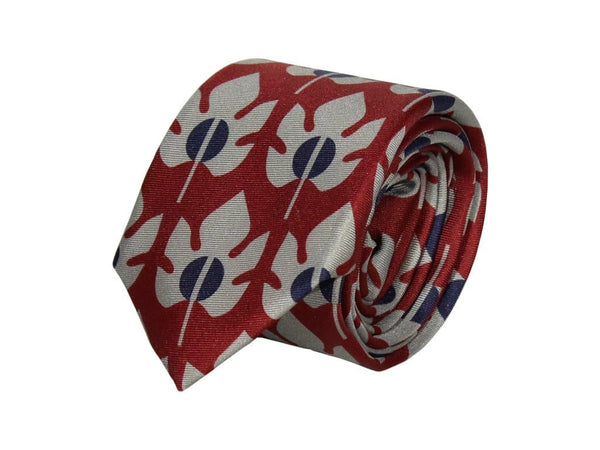 MAPLE PRINTED SILK TIE