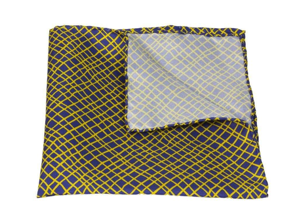 NET PRINTED SILK POCKET SQUARE