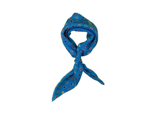 COLOURED OUTLINED POLKA DOT MODAL CASHMERE FOULARD