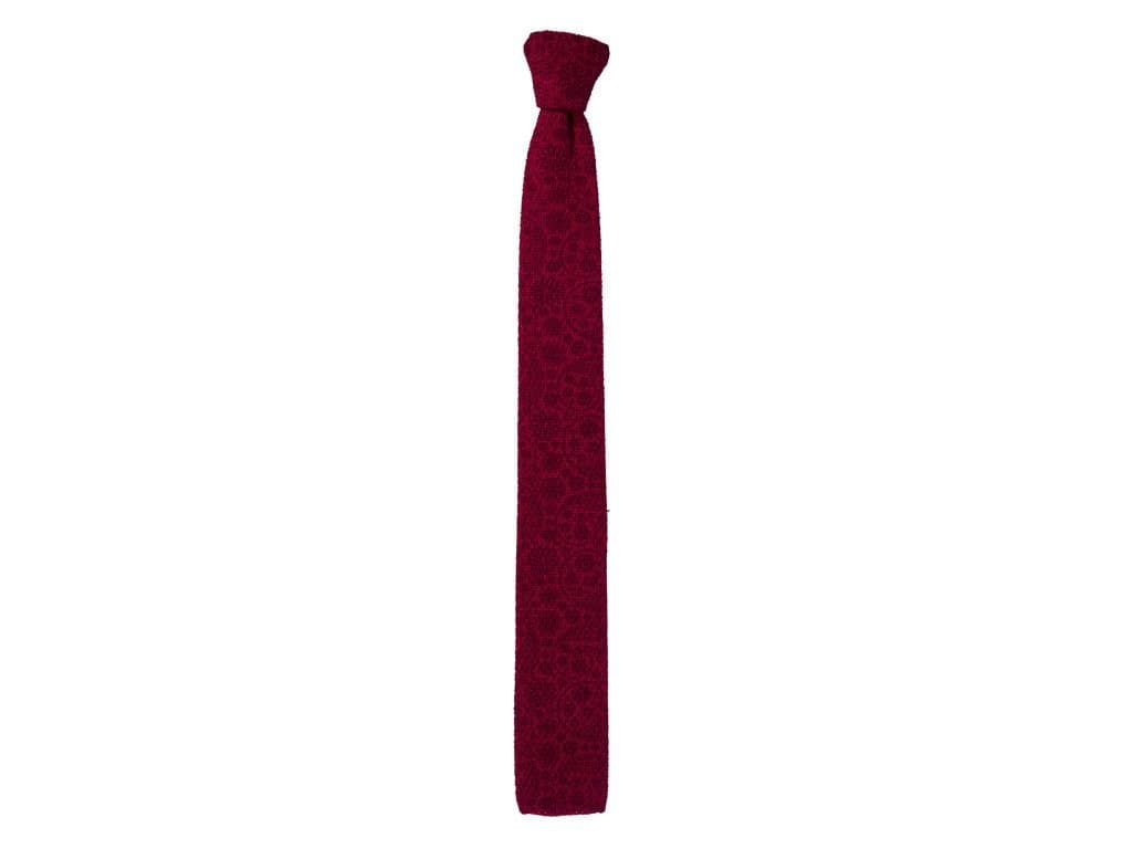 PRINTED WHIMSICAL COTTON KNITTED TIE