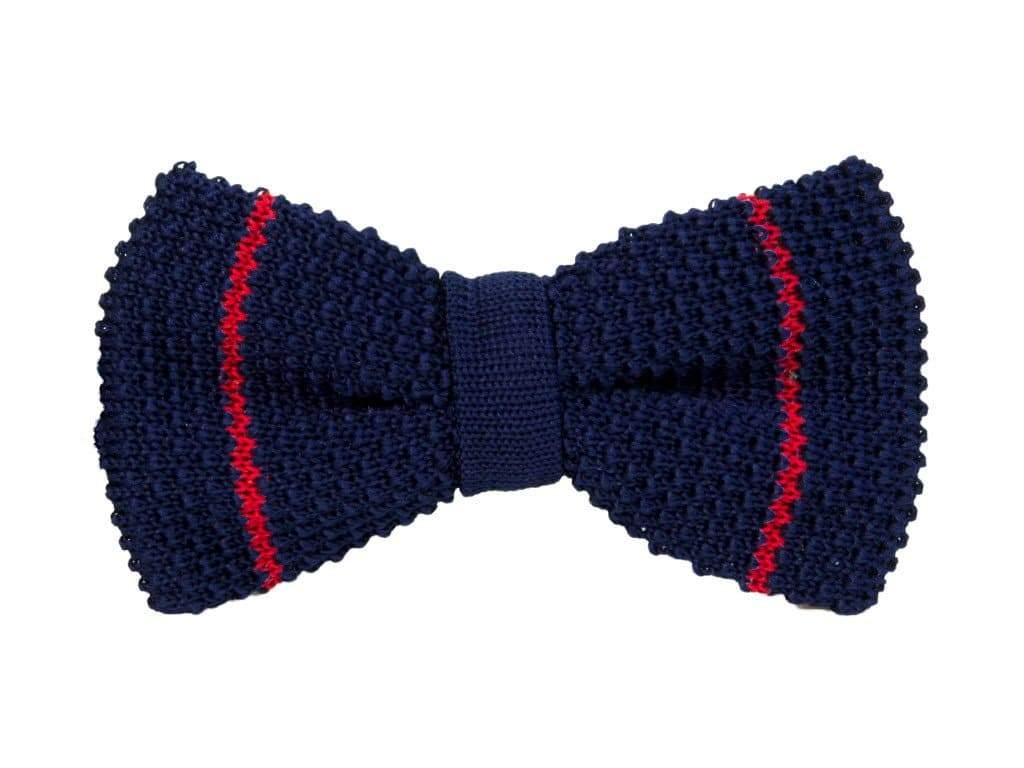 MICRO BAR STRIPED SILK KNITTED BOW TIE