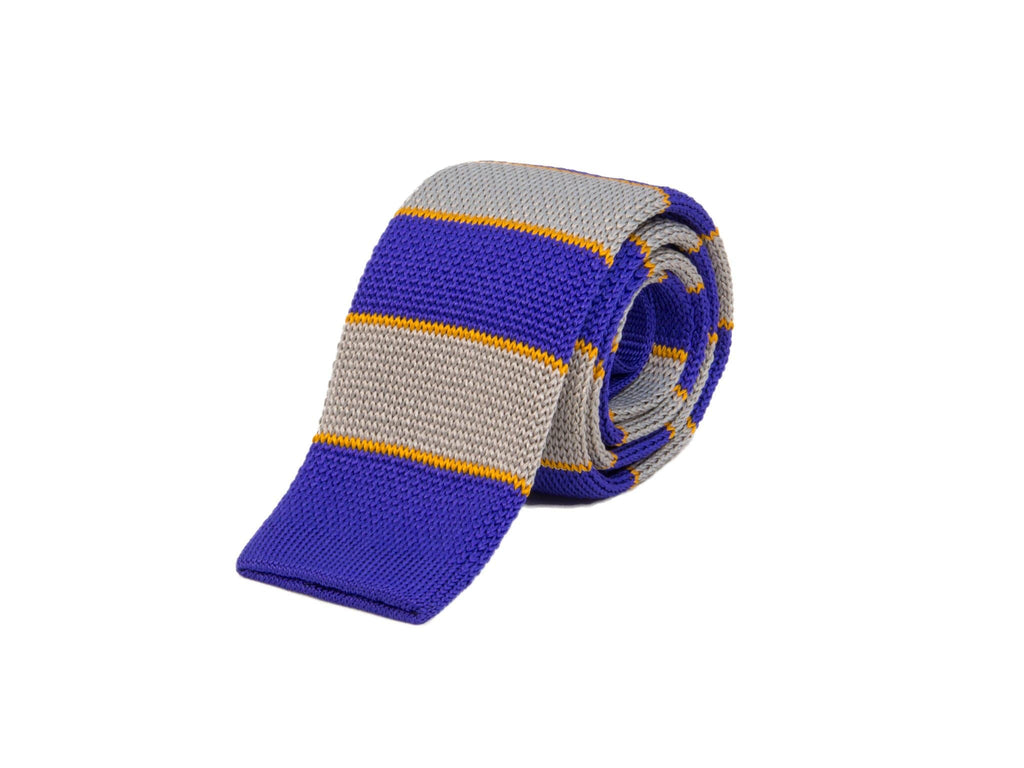 AUTHENTIC REGIMENTAL SILK KNITTED TIE