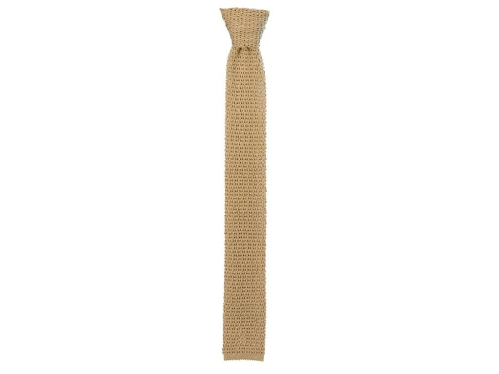 SOLID SILK JACQUARD KNITTED TIE