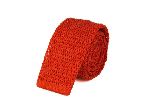 SOLID MERCERISED COTTON JACQUARD KNITTED TIE