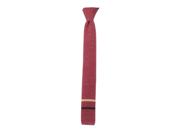 Double Striped Wool Knitted Tie