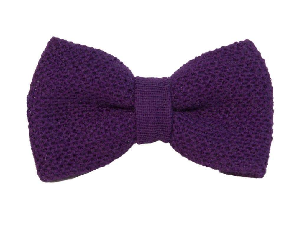 WOOL KNITTED BOW TIE