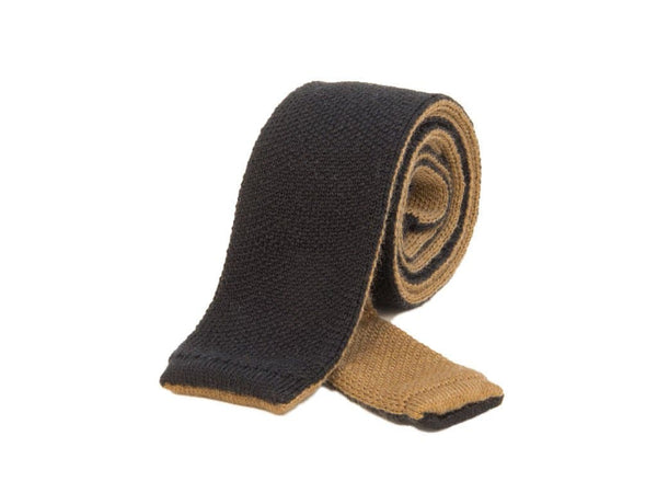 REVERSIBLE WOOL KNITTED TIE