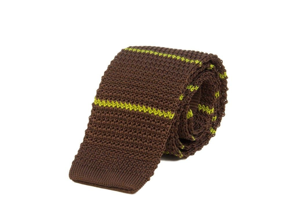 BAR STRIPED SILK KNITTED TIE