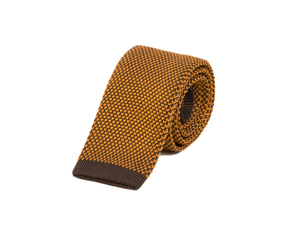 POLKA DOT SILK KNITTED TIE