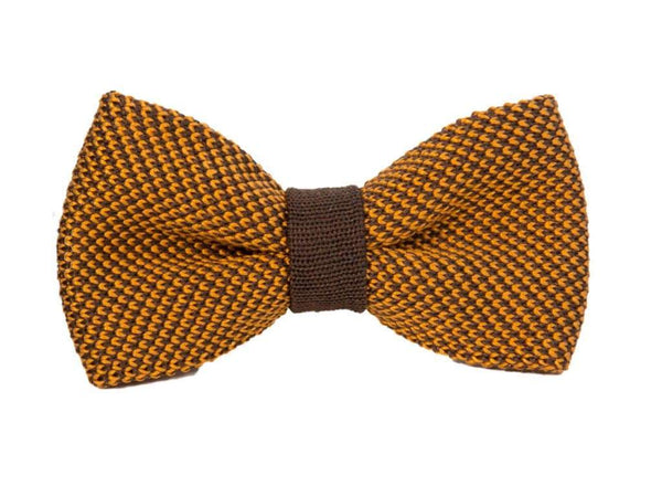 POLKA DOT SILK KNITTED BOW TIE