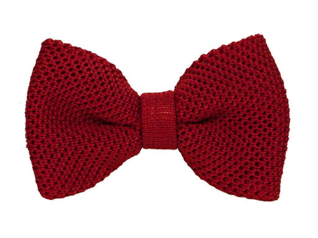SOLID SILK KNITTED BOW TIE