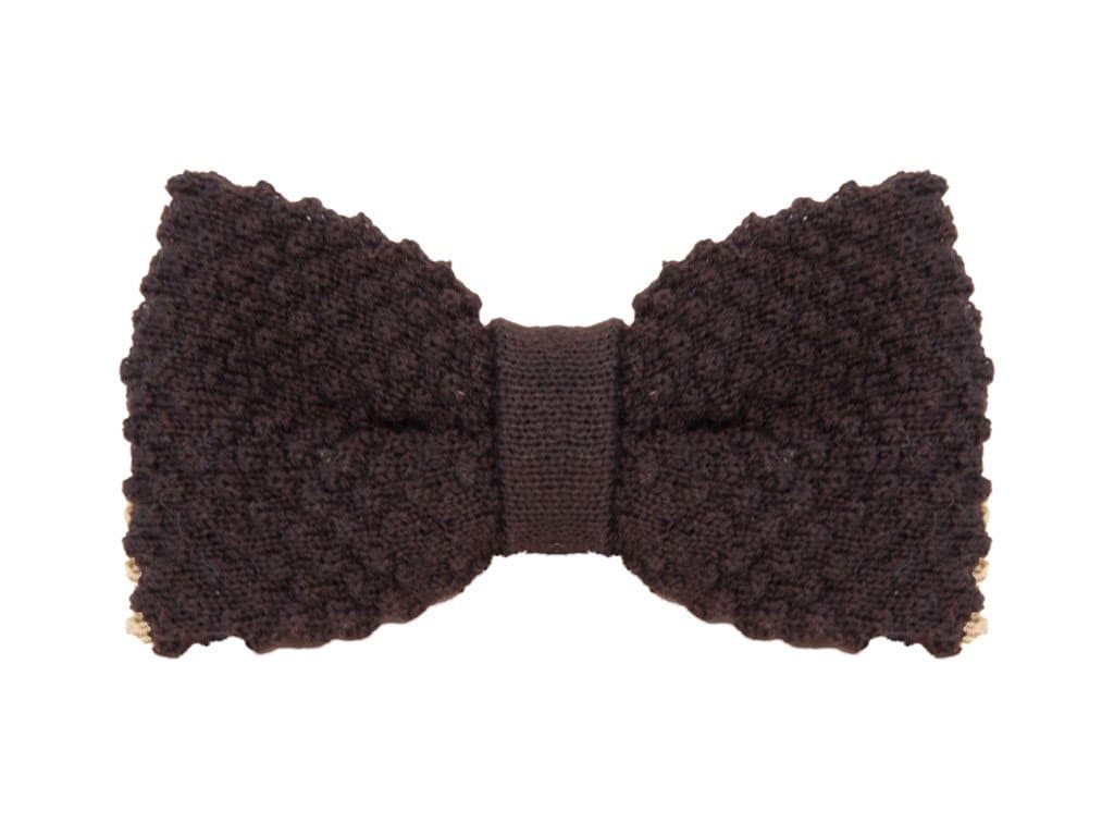 REVERSIBLE THICK WOOL KNITTED BOW TIE