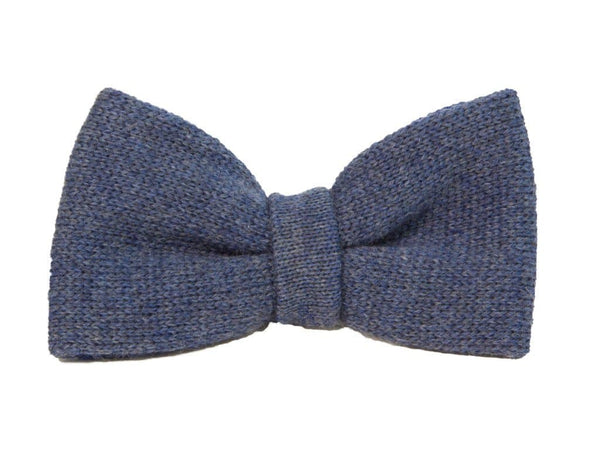 REVERSIBLE WOOL KNITTED BOW TIE