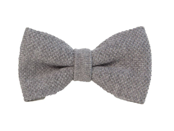 SOLID COTTON KNITTED BOW TIE