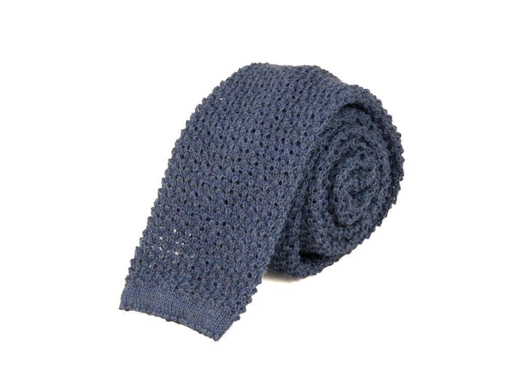 SOLID WOOL JACQUARD KNITTED TIE