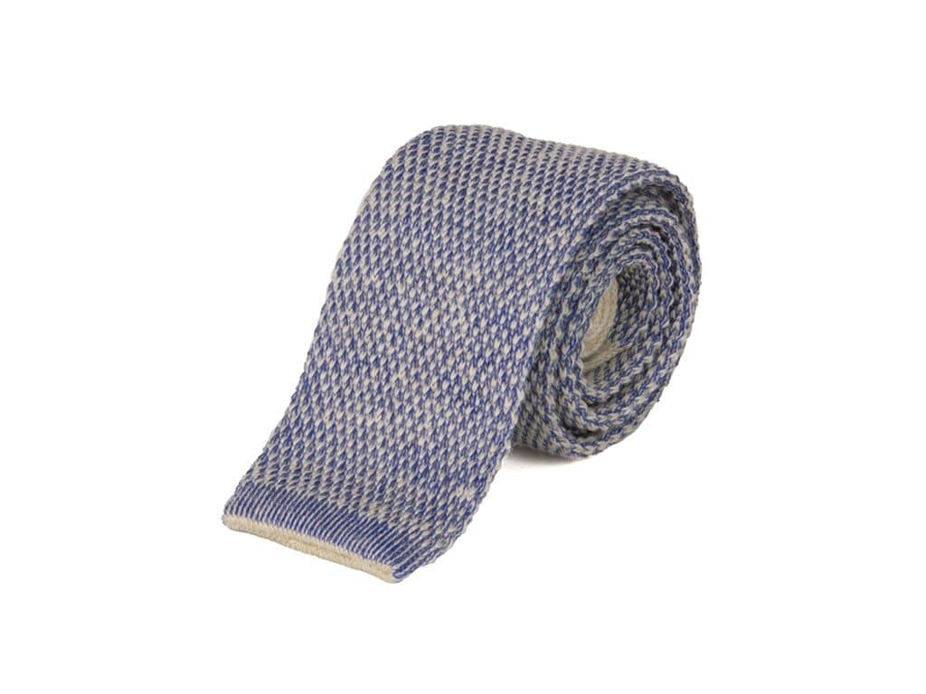 Double Threaded Wool & Cotton Knitted Tie