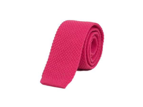 SOLID COTTON KNITTED TIE