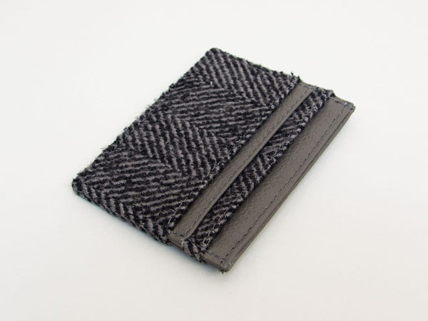 HERRINGBONE WOOL CARD HOLDER