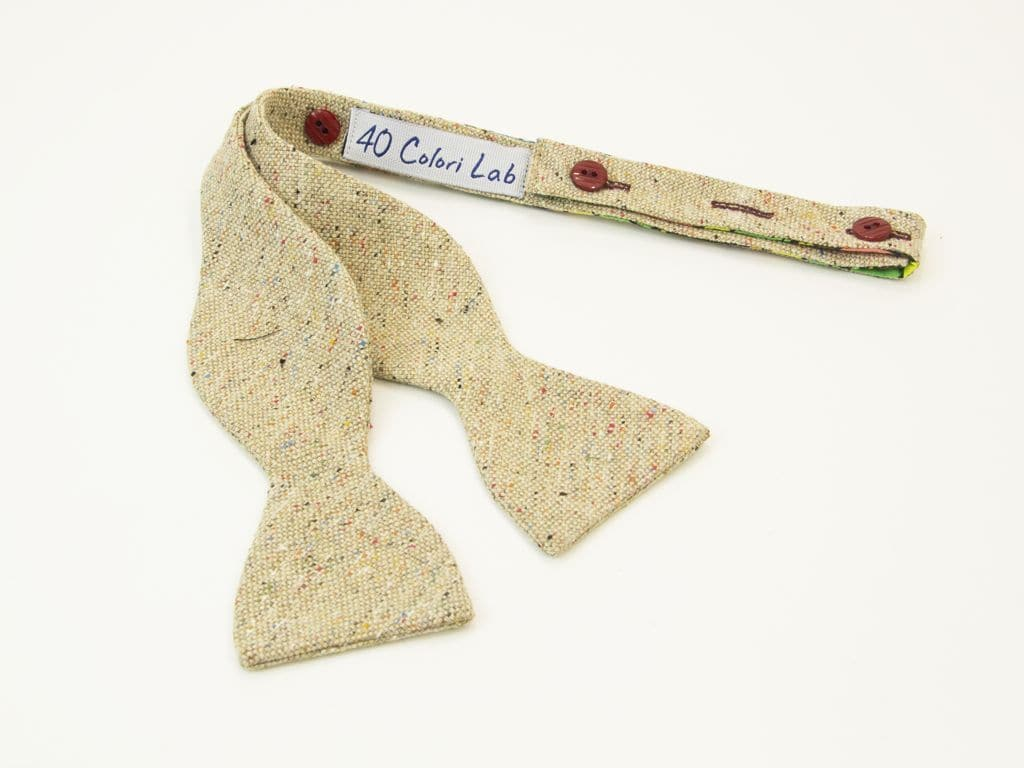 MELANGE WOOL AND SILK BOW TIE