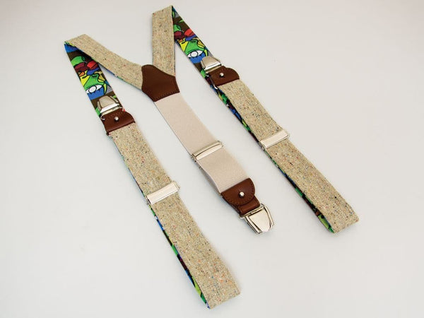 MELANGE WOOL AND SILK BRACES