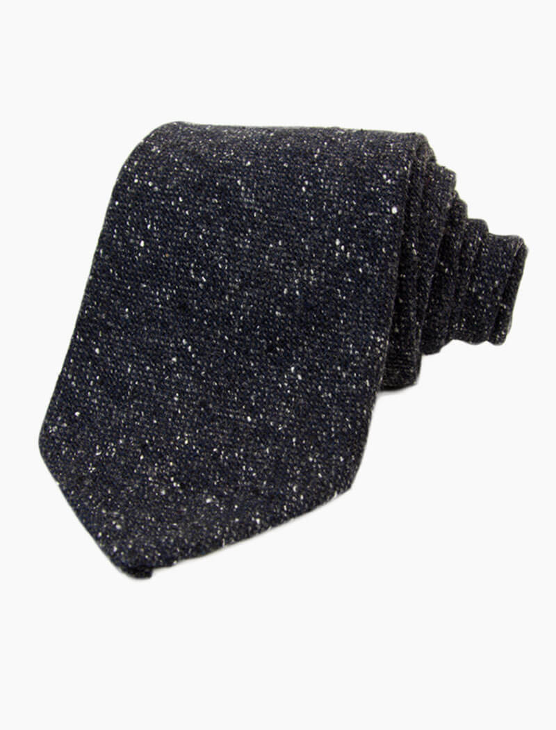 Charcoal Melange Wool & Silk Tie | 40 Colori