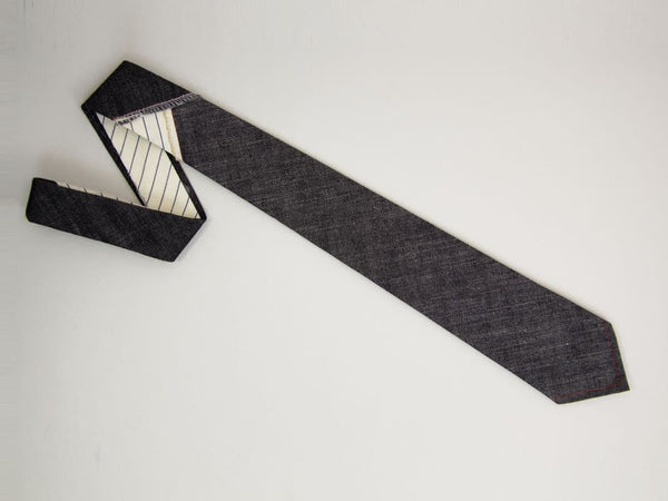 PATCHED DENIM TIE