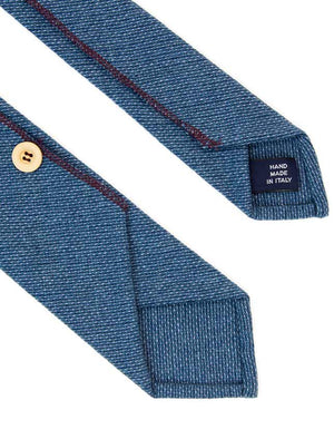 Teal Dashed Wool Tie