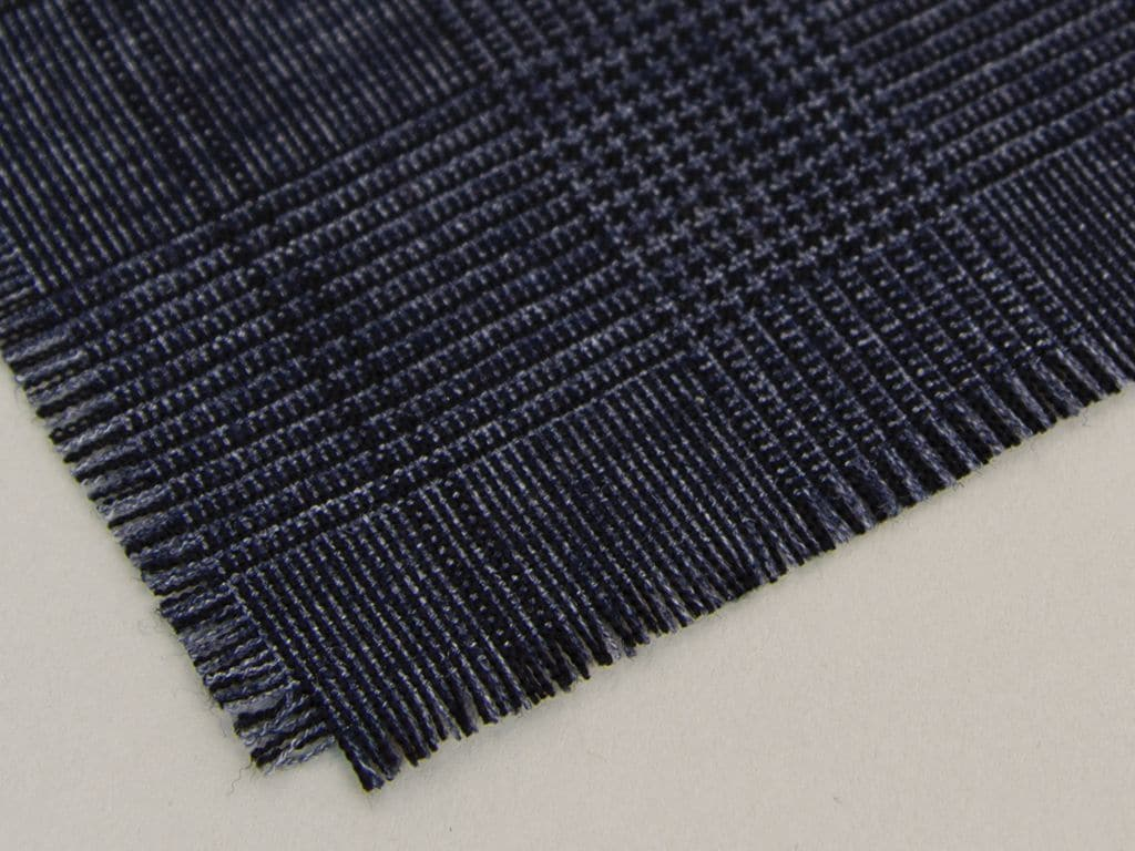Fringed Tartan Wool Pocket Square