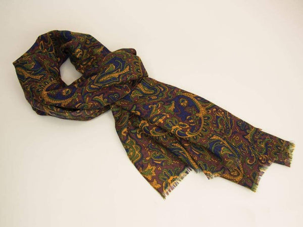 ANCIENT PAISLEY WOOL SCARF