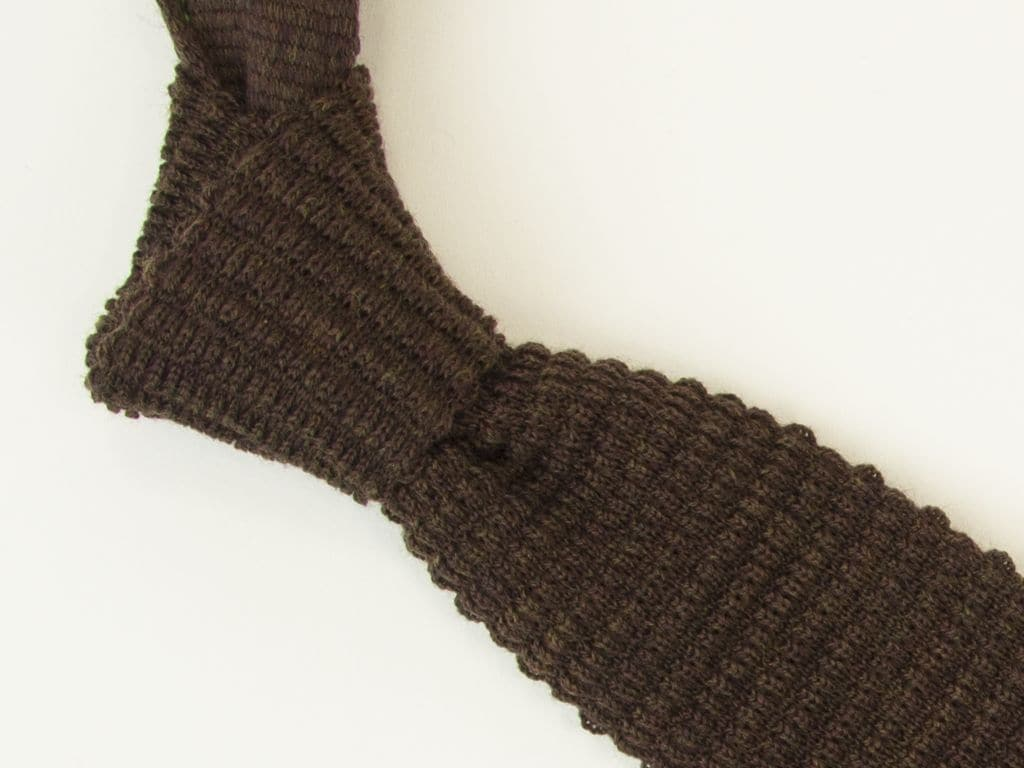 Solid Wool with Contrasting End Knitted Tie