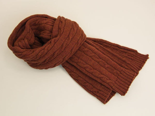 Solid Thick Wool Scarf