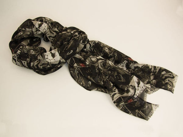 URBAN GRAFFITI PRINTED COTTON SCARF